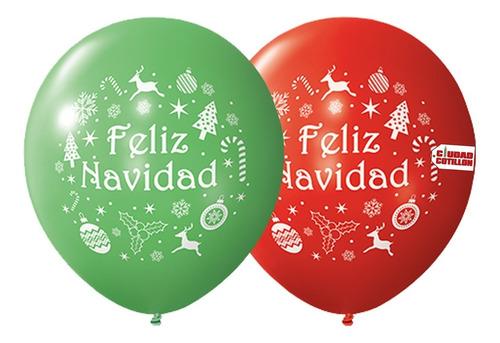 globos globox perlados feliz navidad x 12 - ciudad cotillón