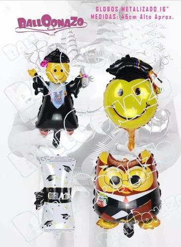 globos graduacion fiesta celebracion caravana birrete