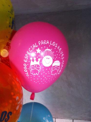 globos impresos para la carta de reyes una tinta un lado
