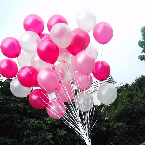 globos inflados con helio + cinta!! valor por unidad
