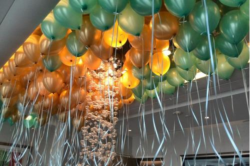 globos inflados on gas helio + cinta!! valor por unidad