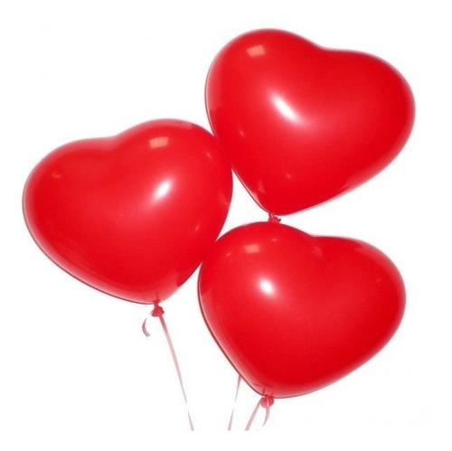 globos latex bombas r12*180 unidades corazón liso + soporte