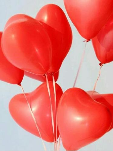 globos látex corazón # 10 el ciento