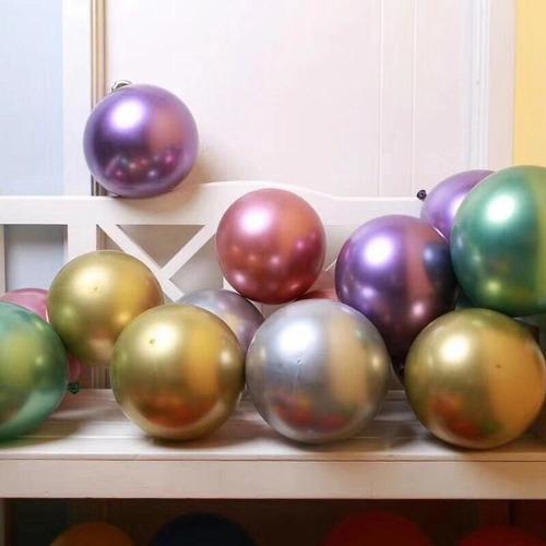 globos látex cromados perlados pasteles metálicos macarones