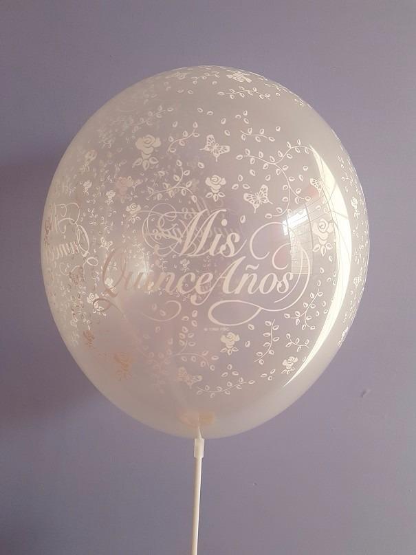 10 globos latex transparentes decorado para xv a os 28 cm for Globos para quince anos