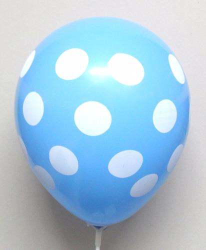 globos latex25 piezas puntos polka lunares decoracion fiesta