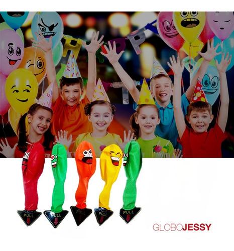 globos led emoticones pack de 5 globos latex