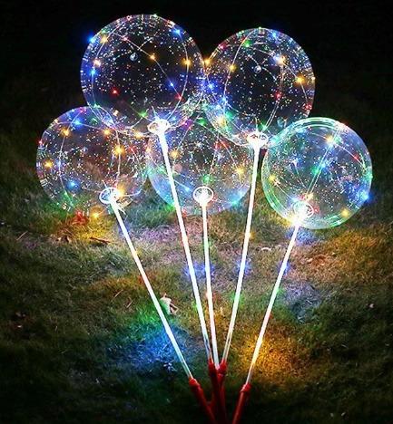 globos led gigante 45 cm + micro led + base globo decoracion