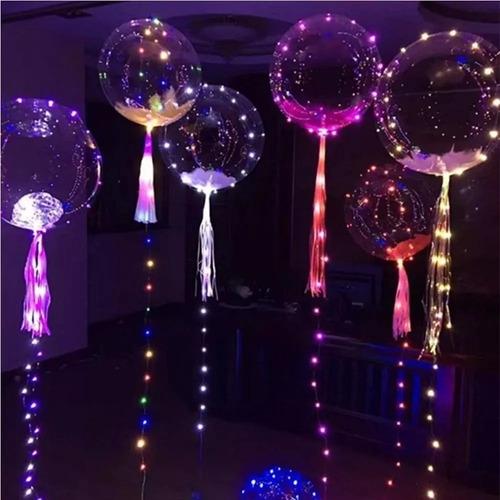 globos led helio + micro led globos luminoso luces led