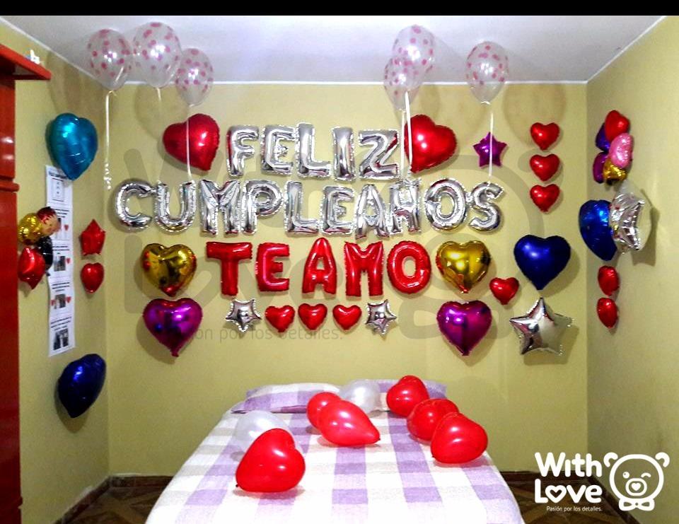 Globos Letras Metalicos Feliz Cumpleaños / Dorado Y