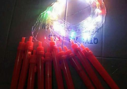 globos luces led con soporte