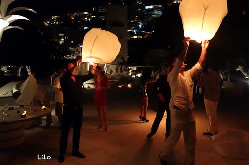 globos luminosos de papel - lámparas aerostáticas al cielo