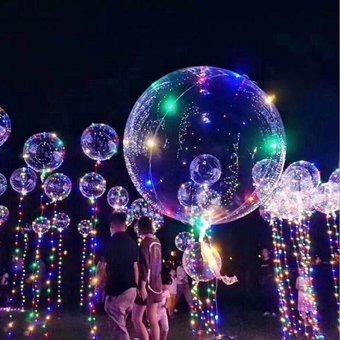 globos luminosos led burbuja transparente con luces de color