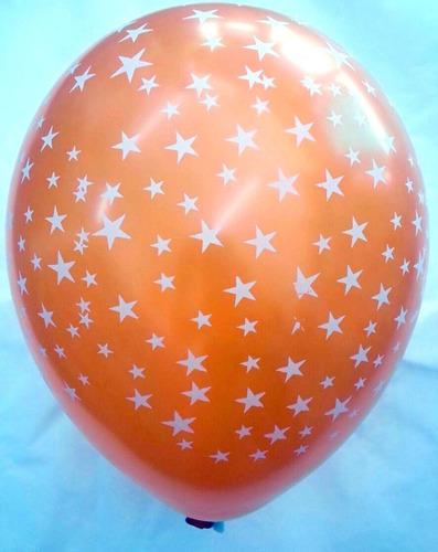 globos lunares estrellitas 12  x 10 u. para helio decoración