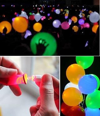 globos luz led cumpleaños fiestas navidad paquete 50 unidade