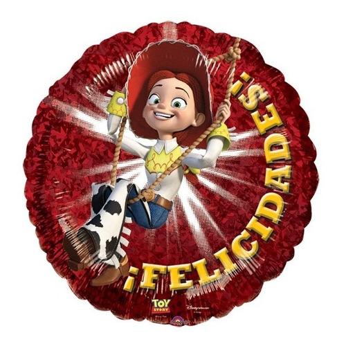 globos metalico 9pulg centro mesa fiesta jessie toy story