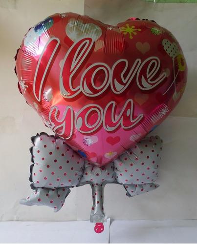 globos metálicos corazón 23  para decoración regalos 10pzas