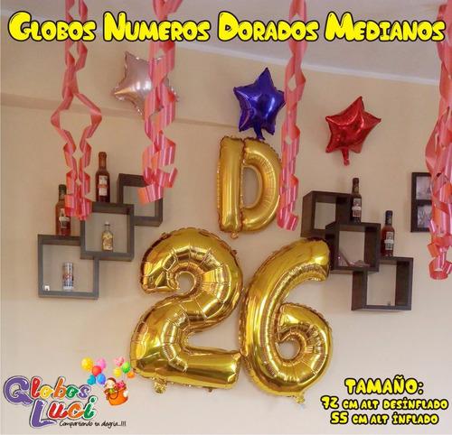 globos metálicos de números 72 cm