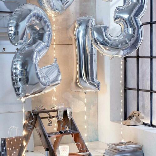 globos metálicos de números de 101cm de alto