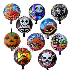 Globos Metalicos Halloween Dia Muertos Decoracion Adorno
