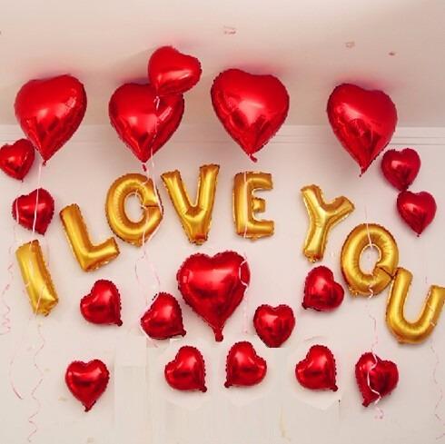 globos metalicos  i love you