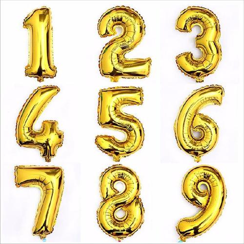 globos metálicos números