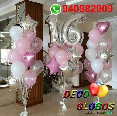globos metalicos numeros gigante 110,90 cm s/20.00