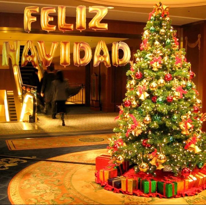Globos Metalizado Feliz Navidad Frase Completa