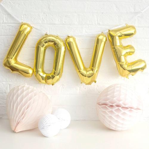 globos metalizado love amor 41cm regalo