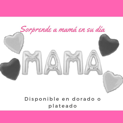 globos metalizado mama dia de la madre recuerdo l3.04