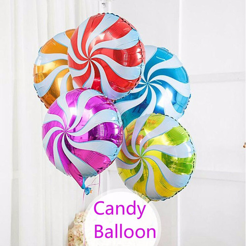 globos metalizados caramelos 45cm - ideal para candybar -