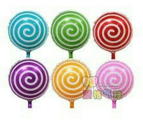 globos metalizados caramelos, chupetas, lunares decoración