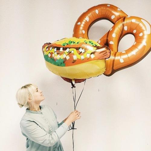globos metalizados comida pizza perro gigante fiesta big