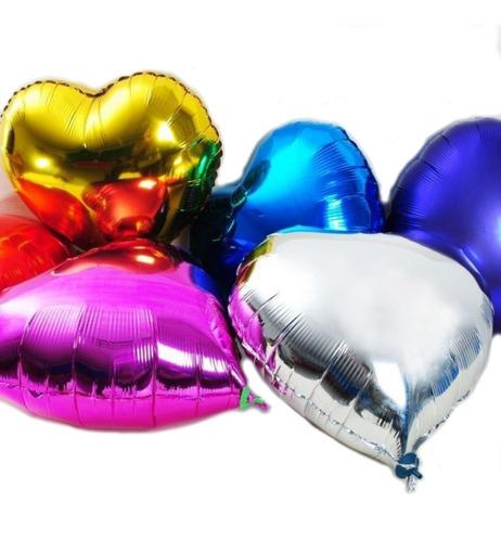 globos metalizados corazon 20 cm x 50 unidades