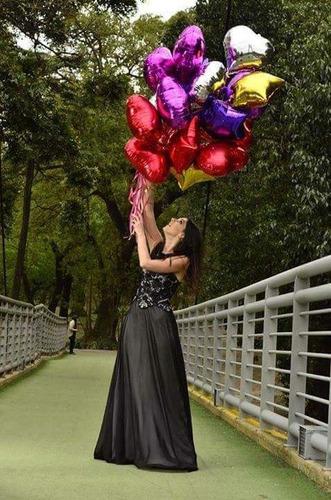 globos metalizados corazon 45cm por 100 c/gas helio y cinta