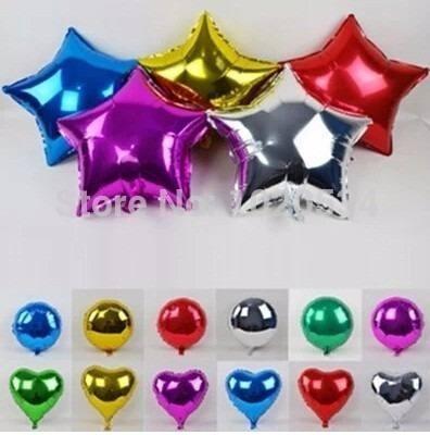 globos metalizados corazones estrellas 9 pulgadas 12 unidad