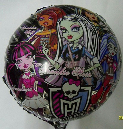globos metalizados de monster high 45 cm
