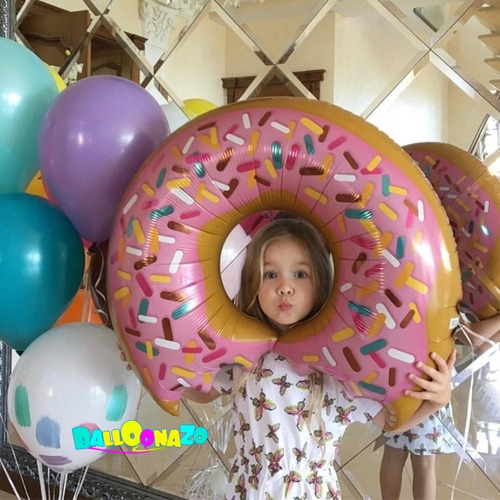 globos metalizados dona  gigante comida food fiesta pizza