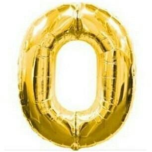 globos metalizados dorados y plata de numeros 32  o 80 cm