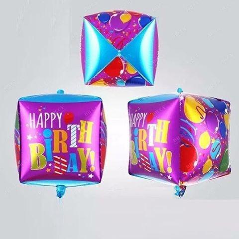globos metalizados en forma de cubo