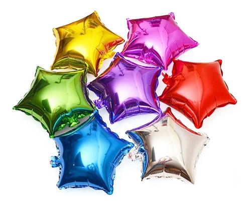 globos metalizados estrellas  12cm por 5 unidades