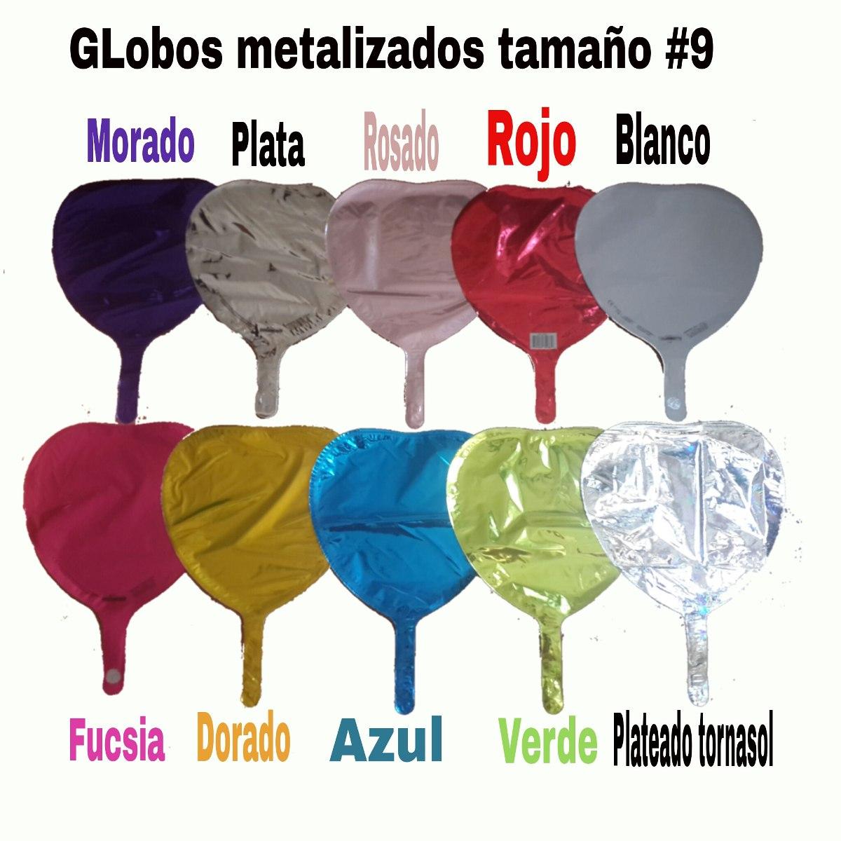 Globos metalizados estrellas coraz n unicolor 23 for Donde comprar globos