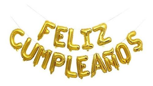 globos metalizados feliz cumpleaños deco 40cm varios colores