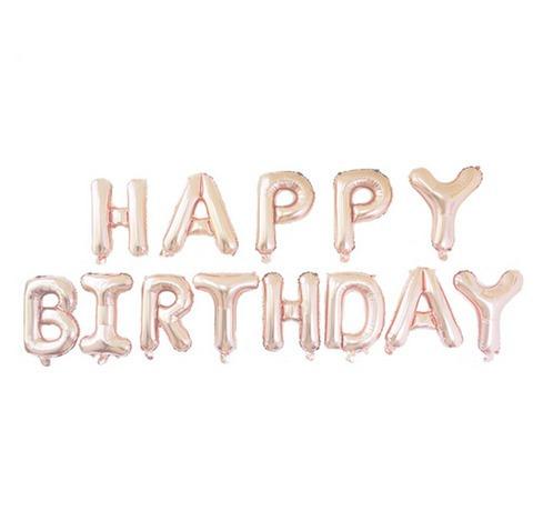 globos metalizados happy birthday numero 16 pulg 13 letras