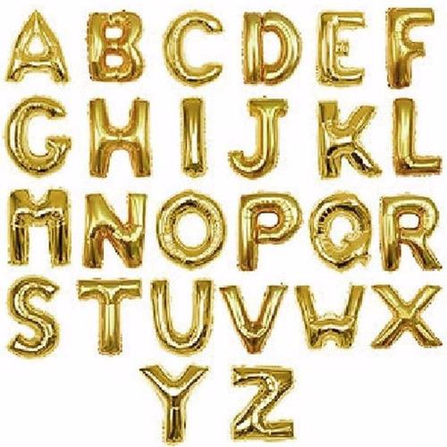 globos metalizados letras 16 pulgadas fiesta cotillon