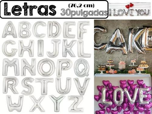 globos metalizados letras numeros gigante 30 pulgadas 76 cm