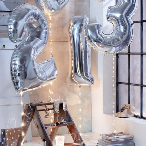 globos metalizados letras numeros grande 30 pulgadas 76 cm