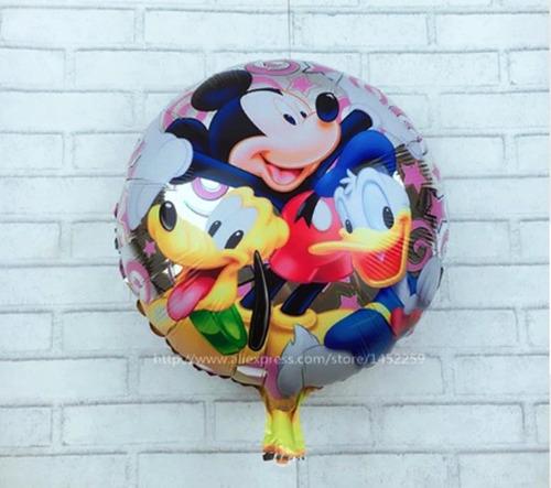 globos metalizados mickey donald pluto-disney 45cms $60