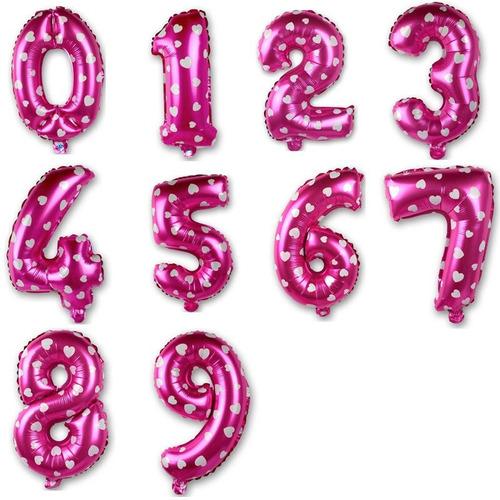 globos metalizados numero 16 pulgadas letras fiesta cotillon