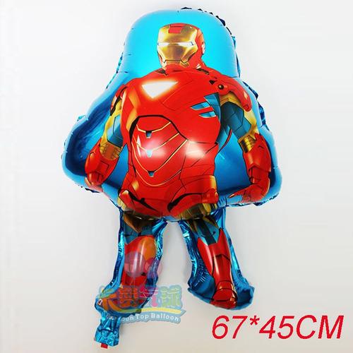 globos metalizados super heroes personajes mayor detal